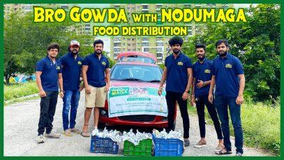 Big Boss Fame Bro gowda joined us for food distribution program