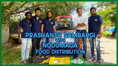 Bigboss fame prashanth sambargi joined nodumaga foundation for food distribution
